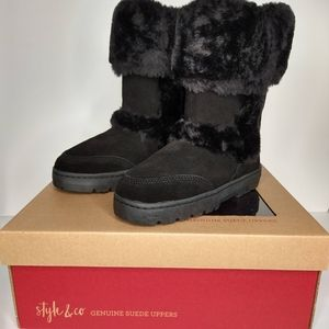 STYLE & CO Witty Suede Winter Boots